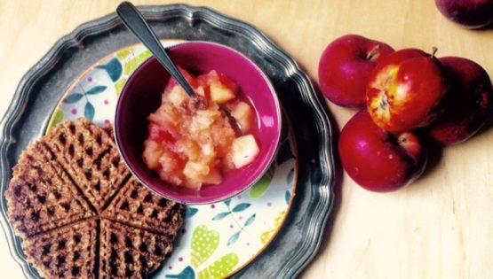 ayurvedische Frühstückswaffeln